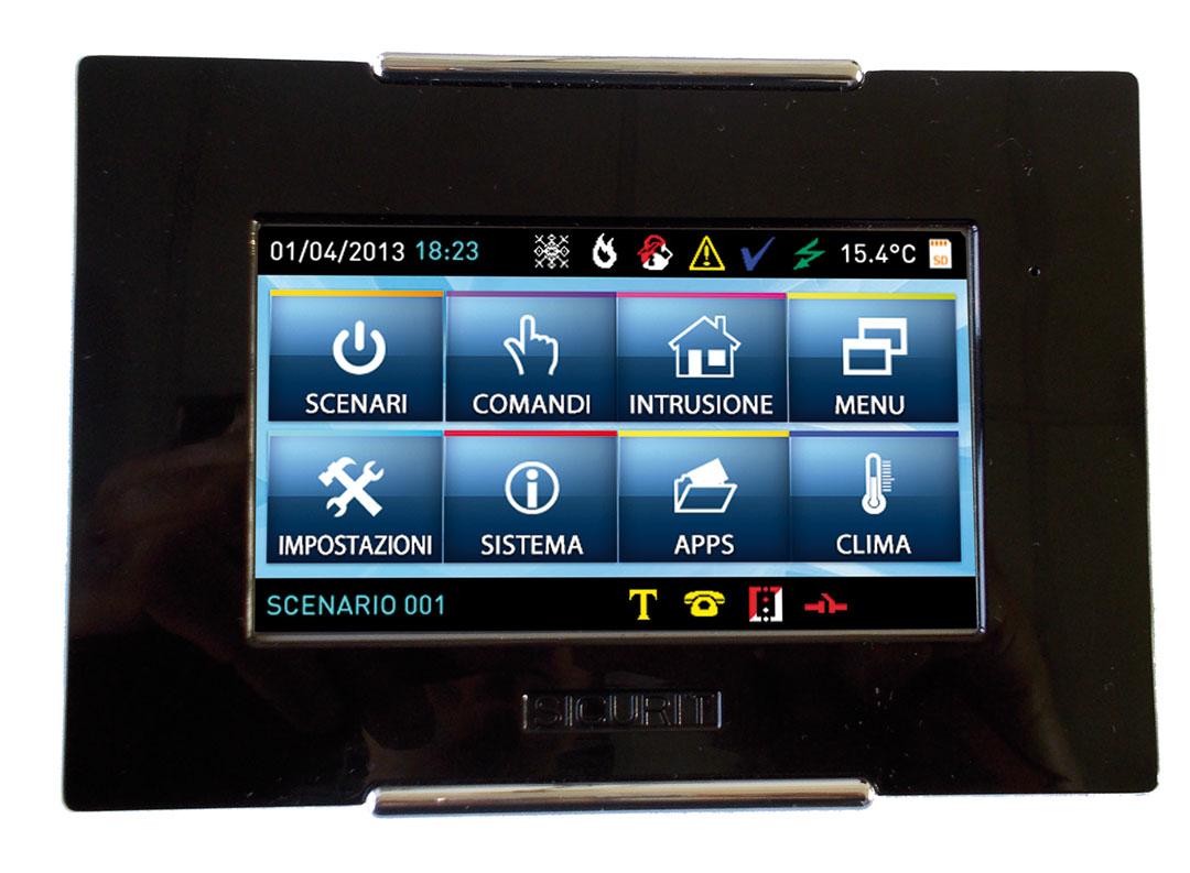 Tastiera touch screen per allarme antifurto